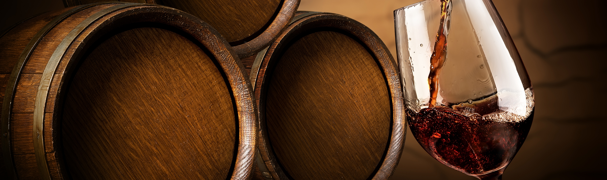 Wine Glass and Barrels